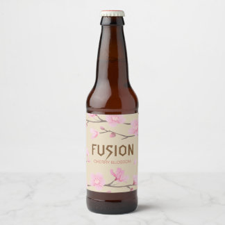 Cherry Blossom - FUSION Beer Bottle Label
