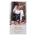 Cherry Blossom Garden Thank You Photo Photo Card