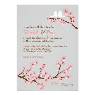 "Cherry Blossom Garden Wedding 5"" X 7"" Invitation Card"