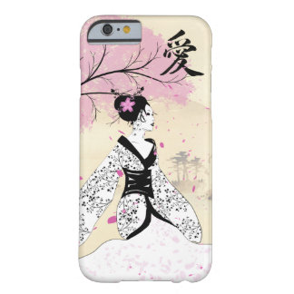 Cherry Blossom Geisha Barely There iPhone 6 Case