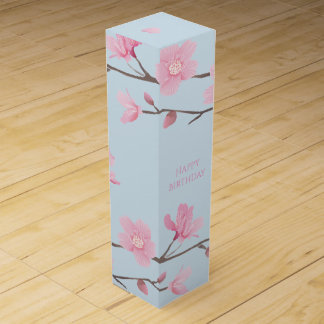 Cherry Blossom - Happy Birthday Wine Gift Box