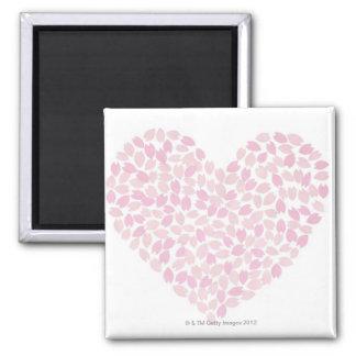 Cherry Blossom Heart Refrigerator Magnet