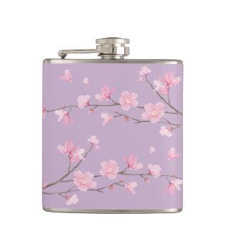 Cherry Blossom Hip Flask