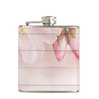 Cherry Blossom Hip Flask
