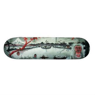 Cherry Blossom Hot Springs - Sk8 Street Art Deck Skateboard