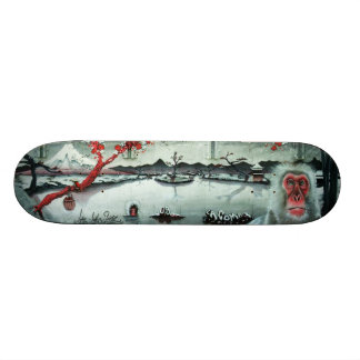 Cherry Blossom Hot Springs - Sk8 Street Art Deck Skateboard Decks