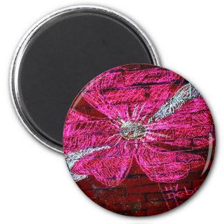 Cherry Blossom in chalk 2 Inch Round Magnet
