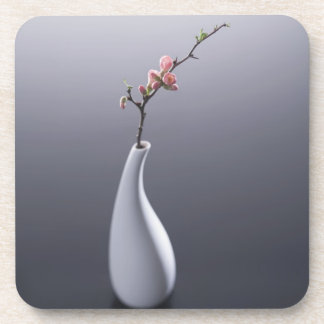 Cherry blossom in vase coaster