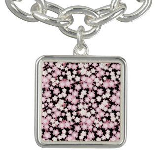 Cherry Blossom - Japanese Sakura- Charm Bracelet