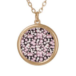 Cherry Blossom - Japanese Sakura- Gold Plated Necklace