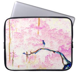 Cherry Blossom Landscape Laptop Sleeve