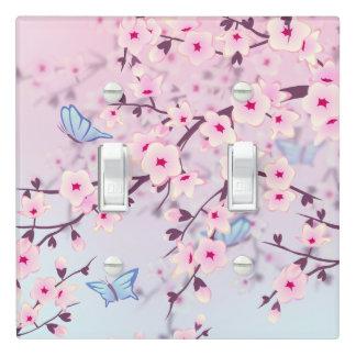 Cherry Blossom Landscape Light Switch Cover