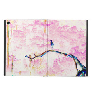 Cherry Blossom Landscape with bird iPad Air Case