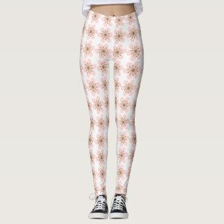 Cherry Blossom leggings, Pink and white Leggings