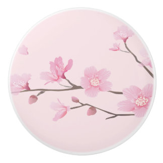 Cherry Blossom - Light Pink Ceramic Knob