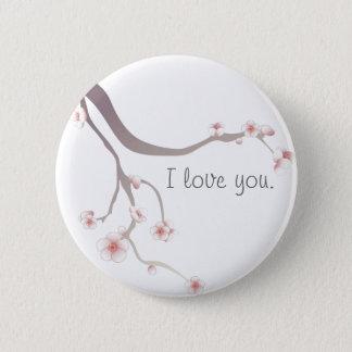 Cherry Blossom Love... 2 Inch Round Button
