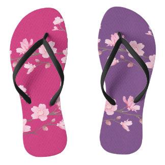 Cherry Blossom - Magenta Flip Flops