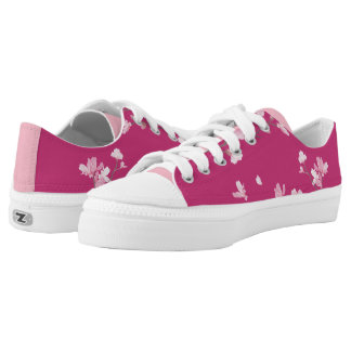 Cherry Blossom - Magenta Low-Top Sneakers