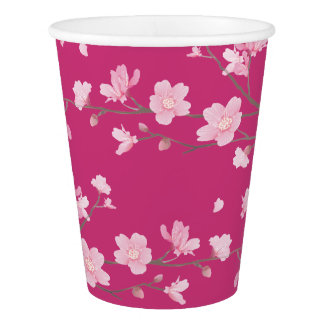Cherry Blossom - Magenta Paper Cup