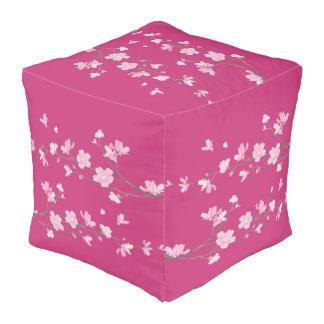 Cherry Blossom - Magenta Pouf