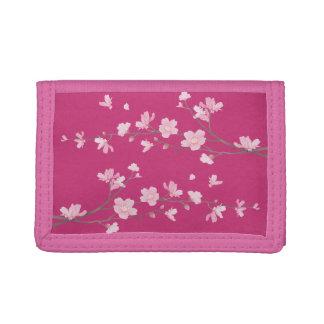 Cherry Blossom - Magenta Tri-fold Wallets