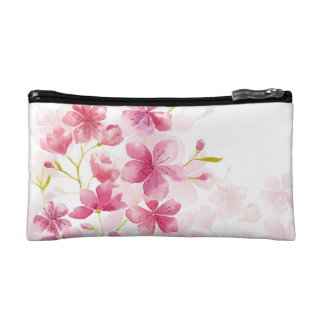 Cherry blossom makeup bag