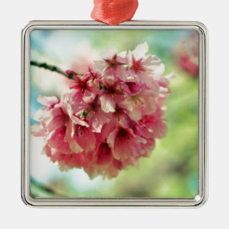 Cherry Blossom Metal Ornament