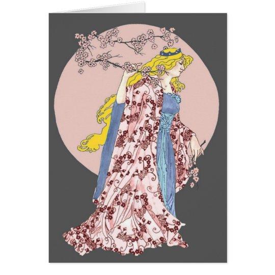 Cherry Blossom Moon Card
