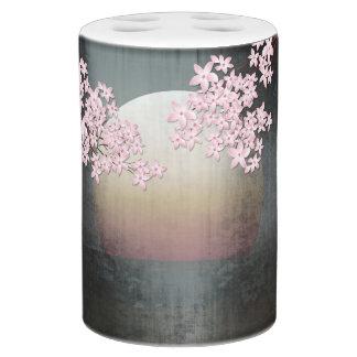 Cherry Blossom Moon Design Bathroom Set