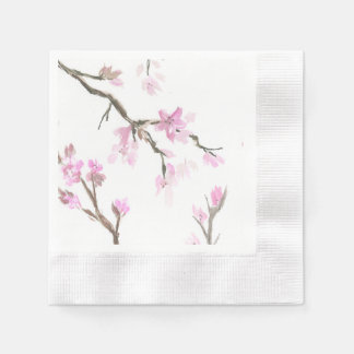 Cherry Blossom Napkins Disposable Napkins