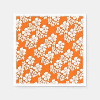 Cherry blossom orange sakura spring paper napkin