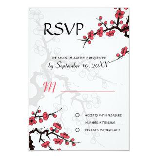 Cherry Blossom Oriental  RSVP invitation