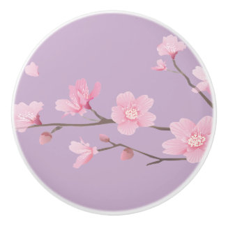 Cherry Blossom - Pale Purple Ceramic Knob