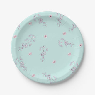 Cherry Blossom Paper Plates 7 Inch Paper Plate