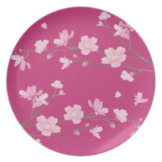 Cherry Blossom Party Plate