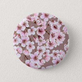 Cherry blossom pattern 2 inch round button
