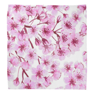 Cherry blossom pattern bandanas