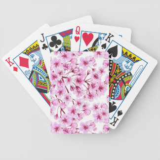 Cherry blossom pattern bicycle playing cards