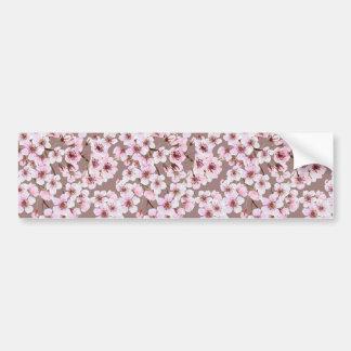 Cherry blossom pattern bumper sticker