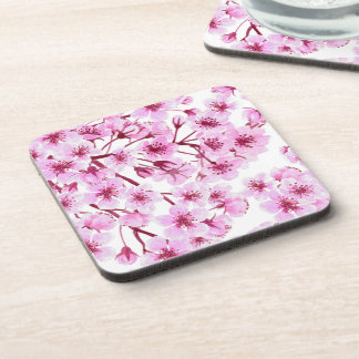 Cherry blossom pattern drink coasters