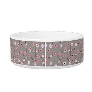 Cherry Blossom Pattern Gray Bowl