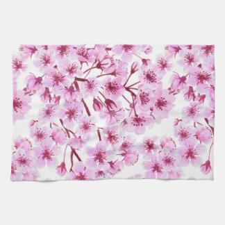 Cherry blossom pattern kitchen towel