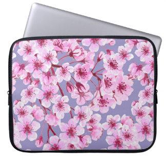 Cherry blossom pattern laptop sleeve