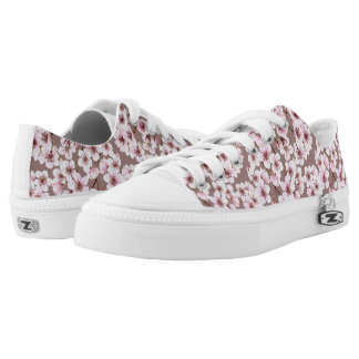 Cherry blossom pattern Low-Top sneakers