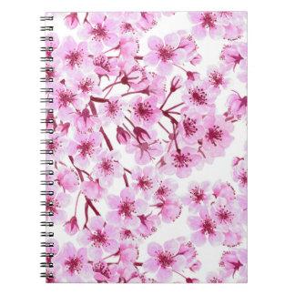Cherry blossom pattern notebook