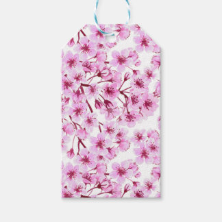 Cherry blossom pattern pack of gift tags