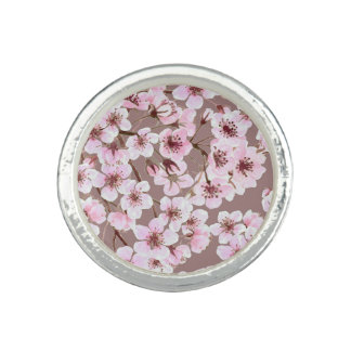Cherry blossom pattern photo ring