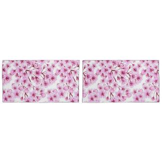 Cherry blossom pattern pillowcase