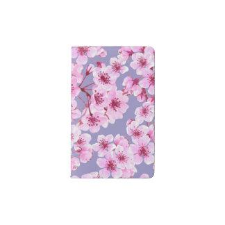Cherry blossom pattern pocket moleskine notebook