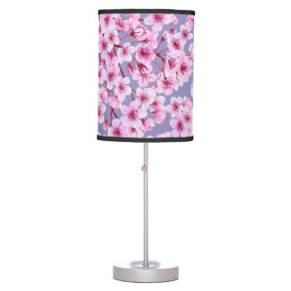 Cherry blossom pattern table lamp